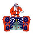 santa claus dj in red traditional costume and vector image vector image