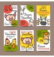 set of discount coupons for eco food goods vector image