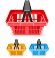 set of shopping baskets vector image vector image