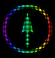 spectral colored pixel sharp rounded arrow icon vector image vector image