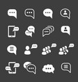 speech bubble icons message text pictograph set vector image