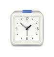 Square alarm clock icon vector image