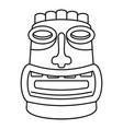 tiki idol mask icon outline style vector image vector image