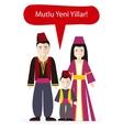 Turks People Congratulations Happy New Year vector image vector image