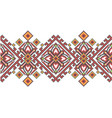 ukrainian ethnic style cross stitch embroidery vector image