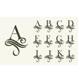 Vintage Set1 Capital Letter for Monograms and