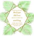 Wedding tropical invitation card