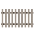 Wooden seamless fence rectangle shape isolated vector image vector image