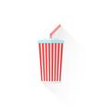 color paper takeaway cola cup icon vector image