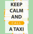 taxi service poster with map vector image