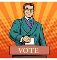 Candidate votes at the elections vector image