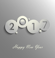 Abstract grey New Years wishes design template vector image vector image
