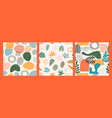 abstract seamless patterns with tropical leaves vector image vector image