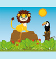 animals and birds in wild nature vector image vector image
