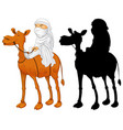 arab man riding camel vector image