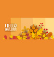 Banner for autumn sale background with falling