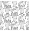 Black white seamless pattern with decorative ice vector image vector image