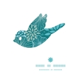 blue and gray plants bird silhouette pattern frame vector image vector image