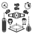 Boxing icons vector image