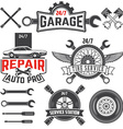 car service labels set vector image vector image
