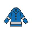 cartoon protective blue jacket reflecting strips vector image