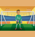 cartoon soccer goalkeeper vector image