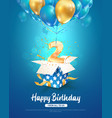 celebration 2 th years birthday 3d vector image