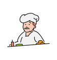 chef cook in hat character in vector image vector image