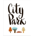 City Park lettering vector image vector image