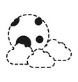 cloud and moon icon vector image vector image