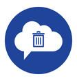 cloud trash icon computing concept vector image