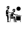 delegation of work black icon sign on vector image vector image