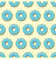 donuts seamless pattern background vector image