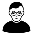 Downer Flat Icon vector image