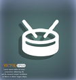 drum icon symbol on the blue-green abstract vector image vector image