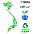 eco green mosaic vietnam map vector image vector image