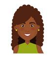 elegant businesswoman black avatar character vector image