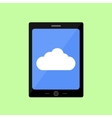 Flat style touch pad with cloud vector image