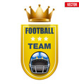 football badge and label vector image vector image