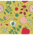 fruit kitchen wallpaper vector image vector image