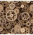 Gears seamless background vector image