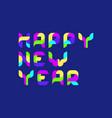 geometric inscription happy new year vector image vector image