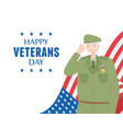 happy veterans day us military armed forces vector image vector image