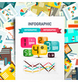 infographic design on paper with paperwork vector image vector image
