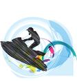 Jetski vector image vector image