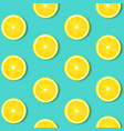 lemon isolated mint background vector image vector image