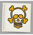lightbulb with skull vector image vector image