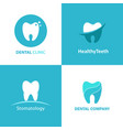 Logo dental clinic set