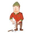mister lumber jack loves nature vector image vector image