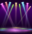 modern interior nightclub with empty show stage vector image vector image